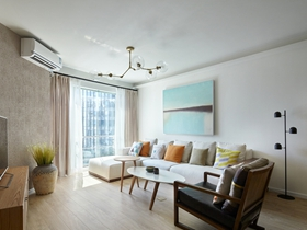 简单清新现代120平三居装修案例