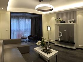 90方现代时尚深灰高雅两室两厅装潢