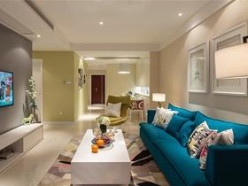 98方温馨简约现代风格三居家庭装修