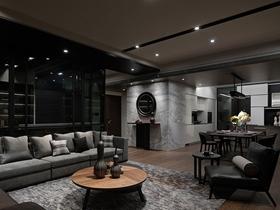 水墨天堂大气现代四居室大户型装潢设计美图