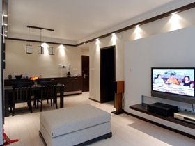 70平中式雅致新古典两室一厅装修美图欣赏