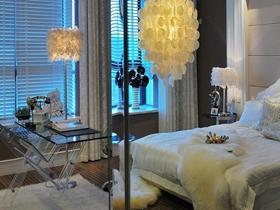 纯净白色梦幻欧式三居户型装修案例