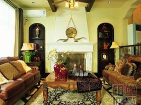 岁月静好美式原木风别墅装潢设计案例