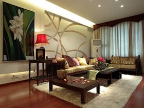中式现代雅致两居室设计欣赏