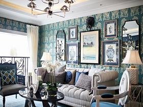碧海蓝天地中海三室两厅装修案例