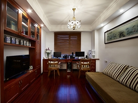 中式风格古典二居室装修图集