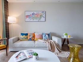温馨北欧简约两居室装修效果图