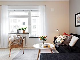 79平北欧简约两居装修效果图欣赏