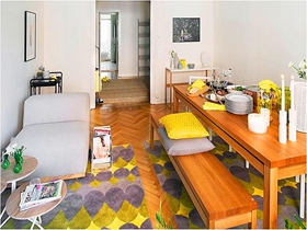 北欧清新风貌简约三居室设计图集