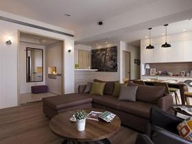 北欧简约三居装修设计图