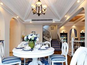 蓝色地中海式别墅装修案例