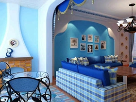地中海两室装修效果图