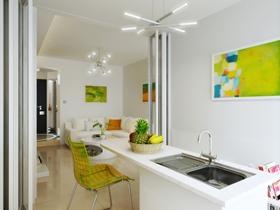 现代简约二居室效果图欣赏