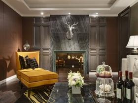 中式风格别墅室内家装效果图