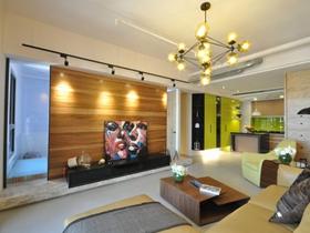 135平现代混搭三居室设计案例
