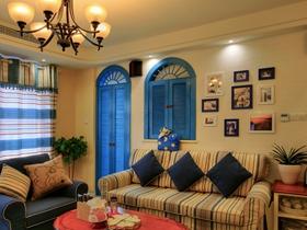 地中海简约风格三居室设计