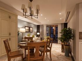 美式室内三居室家居装修效果图