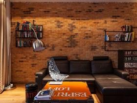 工业混搭风格一居室装修效果图片欣赏