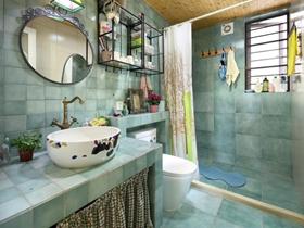 地中海混搭三居室装修设计图