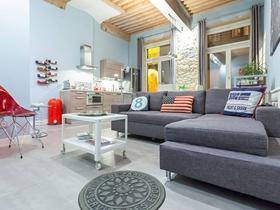 北欧时尚混搭一居室装修效果图