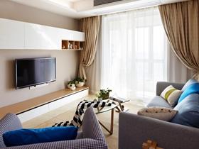 北欧混搭三居室设计效果图