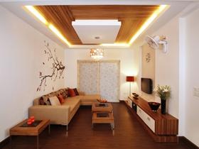 白色简约风格客厅吊顶美图