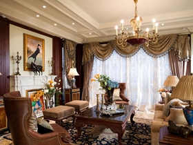 欧式黄色华丽客厅吊顶装修
