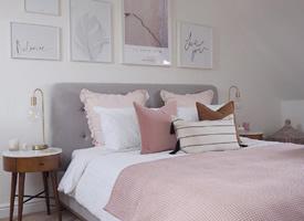 淡粉色的气质温柔房间装修效果图