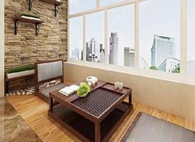 阳台上的榻榻米设计,应景休闲