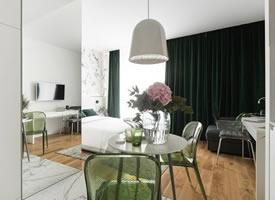 北欧极简风23平小公寓设计 装修效果图