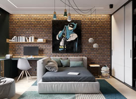 一套优雅个性的公寓设计,真的很酷