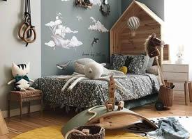 一组可爱浪漫的儿童房装修效果图欣赏