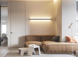 简约纯净的公寓装修效果图,干净利落