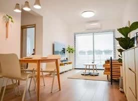 60㎡日式极简清新二居室装修效果图