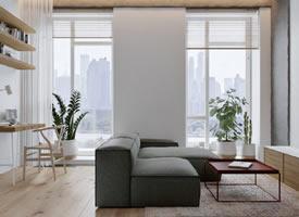 60平米紧凑小公寓装修设计效果图欣赏