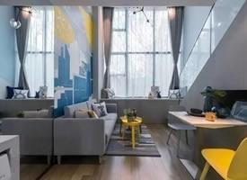 47㎡LOFT公寓,充满活力的装修效果图欣赏