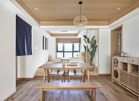 130平原木日式风三居室,闹市中有诗意的栖居