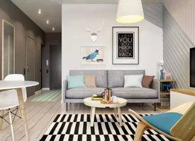 60平简约一居室,所有的空间紧凑相连