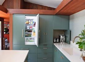 厨房设计新理念,橱柜集成冰箱