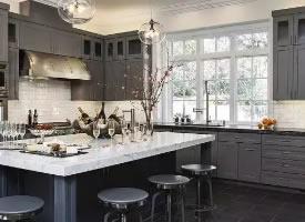 灰色系厨房设计案例