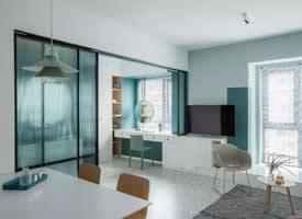 使用面积75㎡两居室,治愈的绿色
