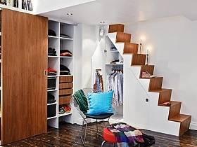 阁楼楼梯衣柜柜子木门装