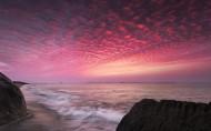 唯美大海晚霞风景图片(12张)