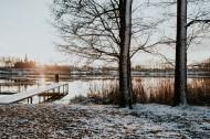 冬季的湖边图片(10张)