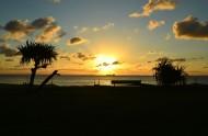 唯美的沙滩日落图片(7张)