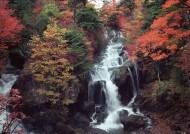 秋季红叶和湖水图片(22张)