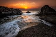 海岸黄昏景色图片(12张)