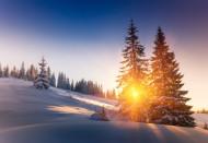 雪山上的夕阳景观图片(15张)
