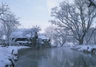 冬季的村庄图片(9张)