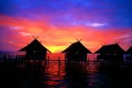 唯美海边落日夕阳图片(11张)